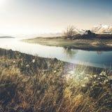 Kościół baca Dobry jezioro i, Mackenzie kraj, Canterbury, Nowa Zelandia Zdjęcie Stock