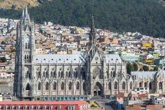 Kościół bazyliki del Voto Nacional, Quito, Ekwador zdjęcia stock