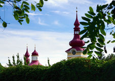 kościół bell szczegół kopuły wieży wieże widok Obraz Royalty Free