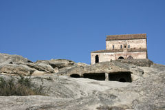 kościół caucasus góry obrazy royalty free
