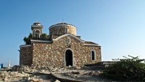 Kościół Chrześcijański na wzgórze frontowym widoku Cypr zbiory