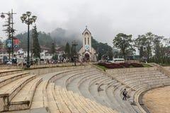 Kościół Chrześcijański w centrum Sa Pa, Wietnam Zdjęcie Stock
