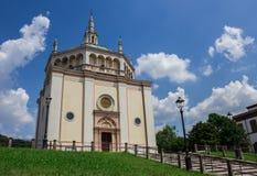 Kościół Crespi d ` Adda obrazy stock