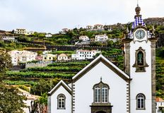 Kościół dama Monte w lecie w Funchal, Portugalia obraz stock