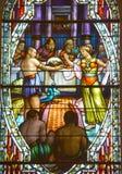 Kościół de witrażu okno Zdjęcie Stock