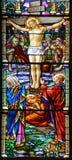 Kościół de witrażu okno Obrazy Royalty Free