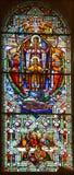 Kościół de witrażu okno Obraz Royalty Free