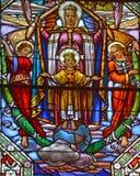 Kościół de witrażu okno Fotografia Stock
