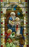 Kościół de witrażu okno Obrazy Stock