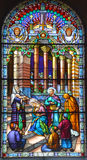Kościół de witrażu okno Zdjęcie Royalty Free
