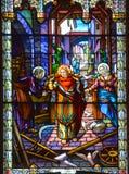Kościół de witrażu okno Fotografia Royalty Free