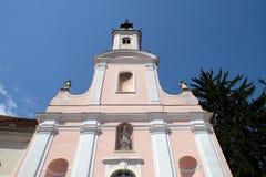 Kościół dedykujący narodziny Jezus w Varazdin, Chorwacja Zdjęcie Stock