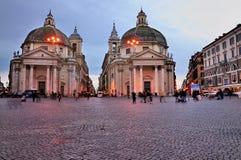 kościół Del Piazza popolo bliźniak Zdjęcie Royalty Free