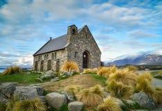 Kościół Dobra baca budująca od 1935, Jeziorny Tekapo, Nowy Z Zdjęcia Stock