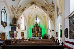 Kościół - Dolny Kubin Obrazy Royalty Free