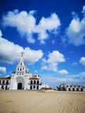 Kościół El rocÃo, Hiszpania obraz royalty free