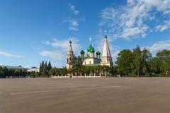Kościół Elijah profet w Yaroslavl Rosja fotografia royalty free