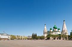 Kościół Elijah profet w Yaroslavl Rosja fotografia stock