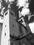 Kościół góruje Fotografia Stock