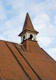 kościół gofrujący żelazny stary dach Fotografia Royalty Free