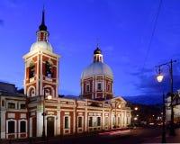 Kościół greatmartyr Panteleimon Święty uzdrowiciel i, St Petersburg obraz stock