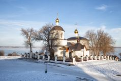 Kościół Helena i Constantine, Sviyazhsk obrazy royalty free