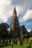 Kościół i cmentarz zdjęcie royalty free