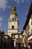 Kościół i główny plac w Toro, Zamora prowincja, Hiszpania Zdjęcie Stock