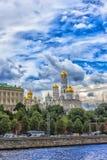 Kościół i katedry w Moskwa Kremlin Kremlowski bulwar w Moskwa, Rosja Fotografia Royalty Free