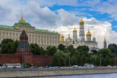 Kościół i katedry w Moskwa Kremlin Kremlowski bulwar w Moskwa, Rosja Zdjęcie Stock