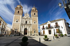 Kościół i urząd miasta Rubio, południe Hiszpania Zdjęcie Stock