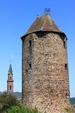 Kościół i więzienia wierza Obrazy Stock