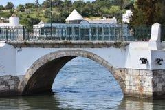 Kościół i zabytki przy Tavira, Algarve, Portugalia obraz stock