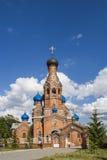 Kościół ikona matka bóg Miasto Cheboksary, Chuvash republika, Rosja 05/04/2016 Fotografia Stock