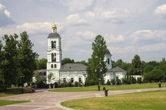 Kościół ikona Nasz damy Daje wiosna w Tsaritsyno Zdjęcia Royalty Free