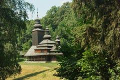 Kościół intercesja Święta dziewica 1792 Pirogovo muzeum, Kie Zdjęcie Stock