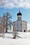 Kościół intercesja na Nerl, Rosja zdjęcia royalty free