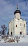 Kościół intercesja na Nerl, Rosja zdjęcia stock
