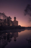 Kościół intercesja na Nerl Vladimir region Końcówka Wrzesień 2015 Fotografia Stock
