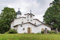Kościół intercesja narodzenie jezusa i, Pskov obraz royalty free
