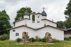 Kościół intercesja narodzenie jezusa i, Pskov zdjęcie stock