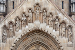 Kościół Jak, Vajdahunyad kasztel Zdjęcia Royalty Free