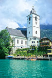 kościół jeziora zdjęcia royalty free