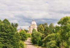 Kościół Katolicki Święta trójca Liskiava Lithuania Obraz Royalty Free