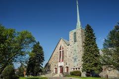 Kościół Katolicki Montreal znak zdjęcia stock