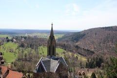 Kościół Katolicki w Dilsberg, Niemcy Fotografia Royalty Free