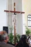 Kościół Katolicki w wiosce zdjęcie stock