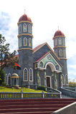 Kościół Katolicki Zarcero Costa Rica zdjęcia royalty free