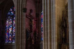 kościół katolickiego nave Fotografia Stock