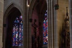 kościół katolickiego nave Zdjęcia Stock